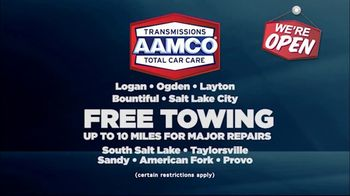 AAMCO Transmissions TV Spot, 'Open for Business: Free Towing and 50 Percent Off' - Thumbnail 4