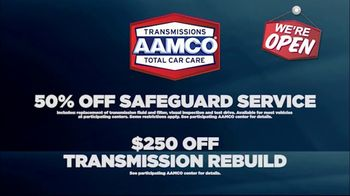 AAMCO Transmissions TV Spot, 'Open for Business: Free Towing and 50 Percent Off' - Thumbnail 6