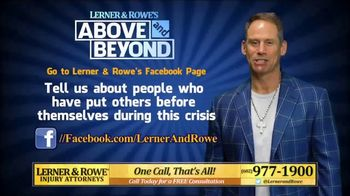 Lerner and Rowe Injury Attorneys TV Spot, 'Above and Beyond' - Thumbnail 6