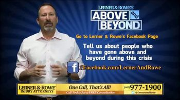 Lerner and Rowe Injury Attorneys TV Spot, 'Above and Beyond' - Thumbnail 7