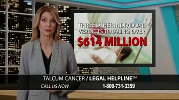 Arnold & Itkin LLP TV Spot, 'Ovarian Cancer Linked to Talcum Powder' - Thumbnail 7