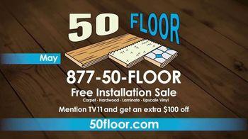 50 Floor Free Installation Sale TV Spot, 'Bracing Yourself' - Thumbnail 9
