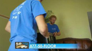 50 Floor Free Installation Sale TV Spot, 'Bracing Yourself' - Thumbnail 8