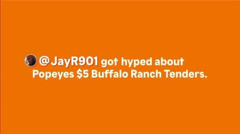 Popeyes Buffalo Ranch Tenders TV Spot, 'A Back Flip on the Tongue' - Thumbnail 1
