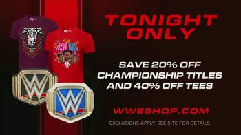 WWE Shop TV Spot, 'Energize Your Style: 20 Percent off Titles & 40 Percent off Tees' Song by Easy McCoy - Thumbnail 7