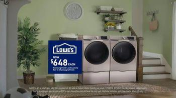 Lowe's TV Spot, 'Samsung Laundry Pair: $648 Each' - Thumbnail 4
