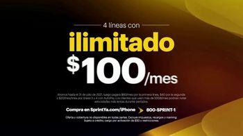 Sprint Unlimited TV Spot, 'Cuatro Apple iPhone 11: cobertura expandida' [Spanish] - Thumbnail 3