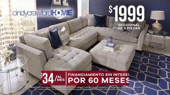 Rooms to Go Venta de Memorial Day TV Spot, 'Cindy Crawford Home: seccional' [Spanish] - Thumbnail 4