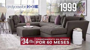 Rooms to Go Venta de Memorial Day TV Spot, 'Cindy Crawford Home: seccional' [Spanish] - Thumbnail 6