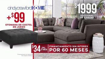 Rooms to Go Venta de Memorial Day TV Spot, 'Cindy Crawford Home: seccional' [Spanish] - Thumbnail 7