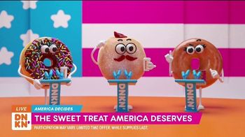 Dunkin' TV Spot, 'The Donut Party 2020 Debate' - 13 commercial airings