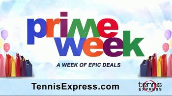 Tennis Express Prime Week TV Spot, 'Discounted Shoes, Apparel & Racquets'