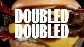 Carl's Jr. Monster Angus Thickburger TV Spot, '1/3 Pound Angus Beef Doubled'