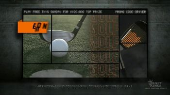 DraftKings TV Spot, 'PGA: Fairway Frenzy' - Thumbnail 2