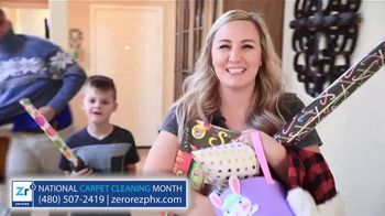 Zerorez National Carpet Cleaning Month TV Spot, 'Cleaning the House'