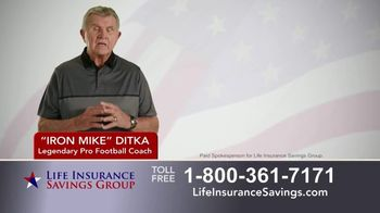 Life Insurance Savings Group TV Spot, 'Acceptance Is Guaranteed' Featuring Mike Ditka - Thumbnail 1