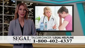 Segal Law TV Spot, 'Baby Powder: Ovarian Cancer Diagnosis' - Thumbnail 1