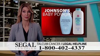 Segal Law TV Spot, 'Baby Powder: Ovarian Cancer Diagnosis' - Thumbnail 2