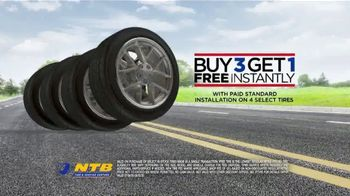 National Tire & Battery TV Spot, 'Summer Is Here: Buy Three Tires, Get One Free' - Thumbnail 5