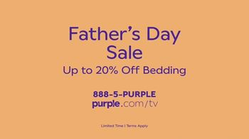 Purple Mattress Father's Day Sale TV Spot, 'Try It: 20 Percent Off Bedding' - Thumbnail 9