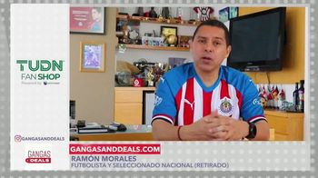 Gangas & Deals TV Spot, 'TUDN Fan Shop' con Aleyda Ortiz, Ramón Morales [Spanish]