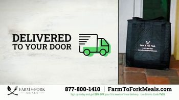 Farm to Fork Meals TV Spot, 'Delicious and Healthy Meal Plan Delivery Service: 25% Off' - Thumbnail 2