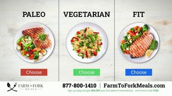 Farm to Fork Meals TV Spot, 'Delicious and Healthy Meal Plan Delivery Service: 25% Off' - Thumbnail 3