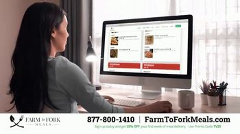 Farm to Fork Meals TV Spot, 'Delicious and Healthy Meal Plan Delivery Service: 25% Off' - Thumbnail 4