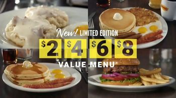 Denny's Limited Edition $2 $4 $6 $8 Value Menu TV Spot, 'Low Prices and Free Delivery' - Thumbnail 4