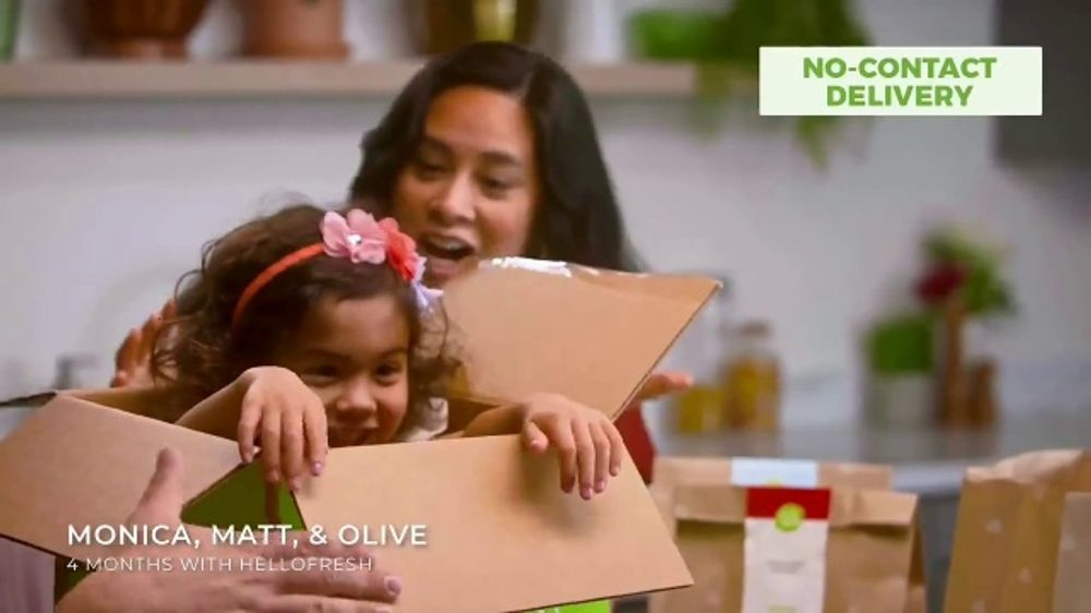 HelloFresh TV Commercial, 'Monica, Matt and Olive: $60 Off'