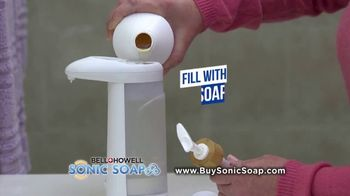 Bell + Howell Sonic Soap TV Spot, 'Hands-Free Design' - Thumbnail 6