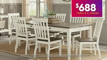 Rooms to Go July 4th Hot Buys TV Spot, 'Two Stylish Dining Sets: $688' - Thumbnail 5