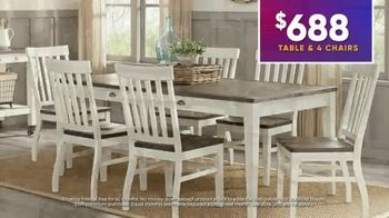Rooms to Go July 4th Hot Buys TV Spot, 'Two Stylish Dining Sets: $688' - Thumbnail 6