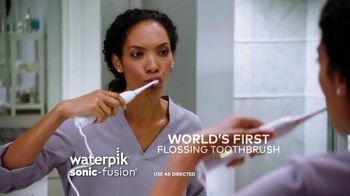 Waterpik Sonic Fusion TV Spot, 'World's First Flossing Toothbrush' - Thumbnail 3