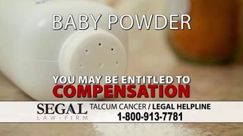 Segal Law TV Spot, 'Baby Powder: Ovarian Cancer'