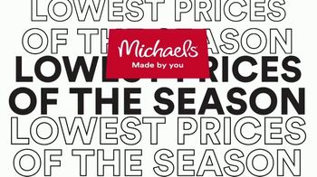 Michaels Lowest Prices of the Season Sale TV Spot, 'Save Big' - Thumbnail 1