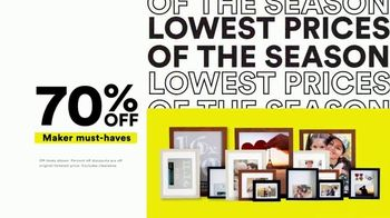 Michaels Lowest Prices of the Season Sale TV Spot, 'Save Big'