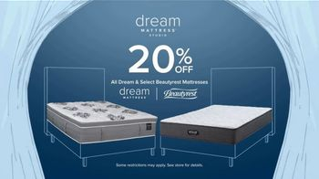 American Signature Furniture Fourth of July Sale TV Spot, 'Dream Mattress Studio: 20 Percent Off'