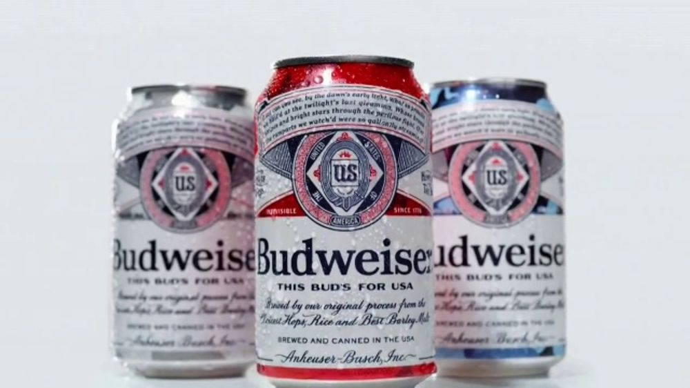 Budweiser TV Commercial, '4th of July: Red, White, and Blue Cans'