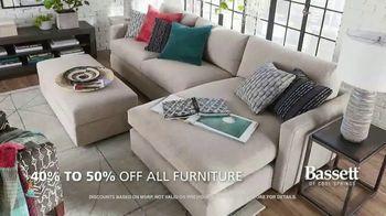 Bassett Summer Sale TV Spot, '40 to 50% Off + Interior Design Services' - Thumbnail 4