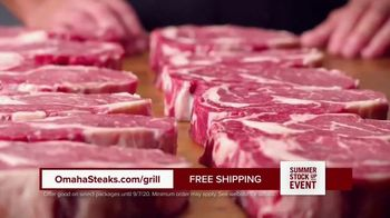 Omaha Steaks Summer Stock Up Event TV Spot, 'Grilling Season: Free Burgers & Shipping'