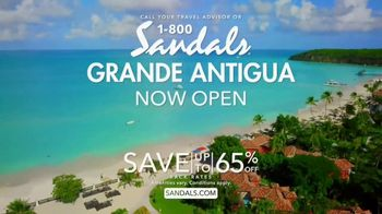 Sandals Resorts Grande Antigua TV Spot, 'Falling in Love: Now Open' - Thumbnail 9