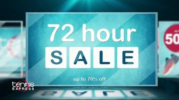 Tennis Express 72 Hour Sale TV Spot, 'Shoes, Apparel and Racket Specials'