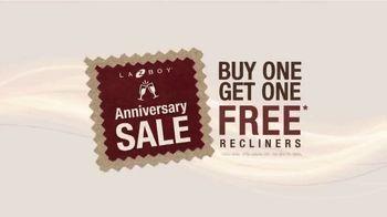 La-Z-Boy Anniversary Sale TV Spot, 'Buy One, Get One Free Recliners: $699' - Thumbnail 1