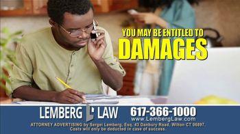 Lemberg Law LLC TV Spot, 'Legal Alert: Debt Collectors' - Thumbnail 2