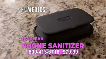 Homedics UV-Clean Phone Sanitizer TV Spot, 'Protect Yourself' - Thumbnail 4