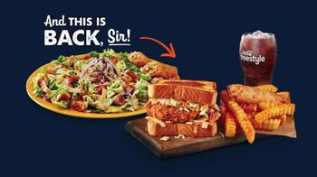 Zaxby's Zensation Zalad and Fillet Sandwich Meal TV Spot, 'Baxter and Back' - Thumbnail 2