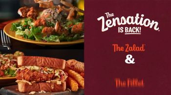 Zaxby's Zensation Zalad and Fillet Sandwich Meal TV Spot, 'Baxter and Back' - Thumbnail 3