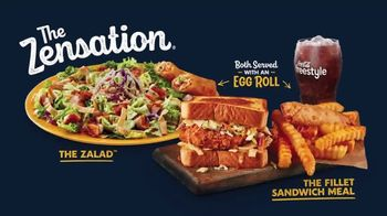 Zaxby's Zensation Zalad and Fillet Sandwich Meal TV Spot, 'Baxter and Back' - Thumbnail 5