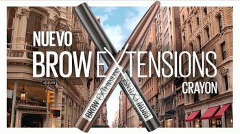 Maybelline New York Brow Extensions Crayon TV Spot, 'Cejas en una barra' [Spanish]